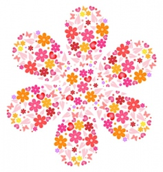 flower shape vector image vector image