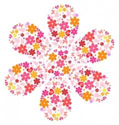Flower shape vector