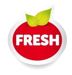 Fresh food label vector image