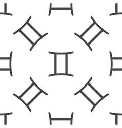 Gemini pattern vector