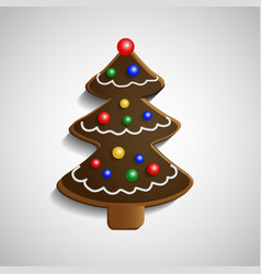Gingerbread chocolate christmas tree vector