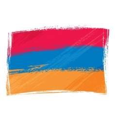 Grunge armenia flag vector