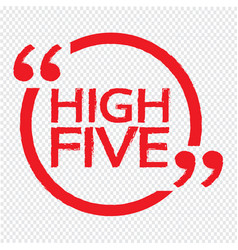 High five design vector