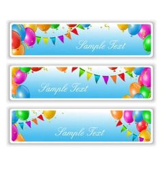 holiday banners with balloons vector image