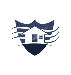 home shield vector image