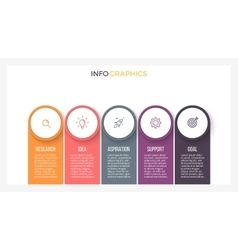 Infographic element chart with 5 steps labels vector