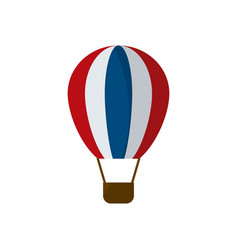 Isolated hot air balloon flat style icon vector