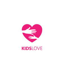 kids love care logo vector image