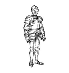 Knight armour engraving vector