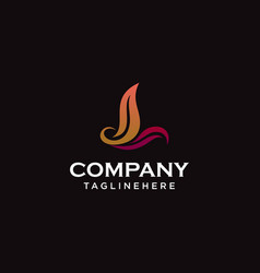 letter l eco leaves logo icon design template vector image