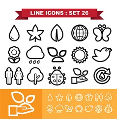 Line icons set 26 vector image