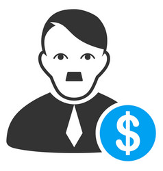 Loan lawyer flat icon vector