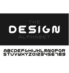 modern stylized font - minimalistic design vector image