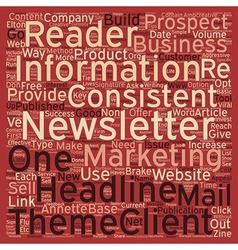 Must Haves for A Successful E Newsletter text vector image