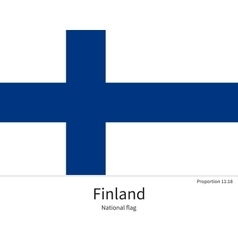 national flag finland with correct proportions vector image