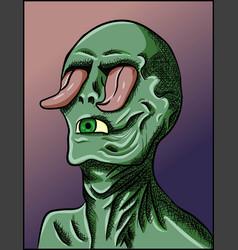 nightmare zombie for halloween vector image
