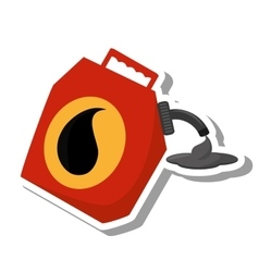 Oil galon isolated icon vector