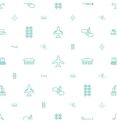 Passenger icons pattern seamless white background vector