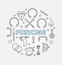 Piercing circular concept in vector