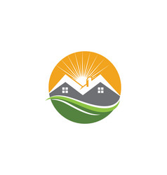 real estate property and construction logo desig vector image