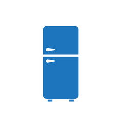 refrigerator - fridge - home kitchen - flat vector image