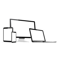 Responsive web design digital devices vector
