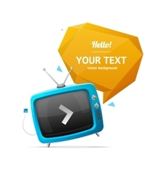 Retro TV with Bubble Speech vector image