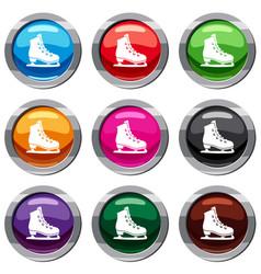 skates set 9 collection vector image