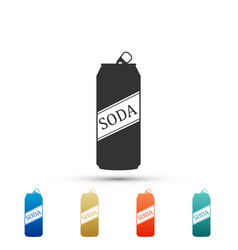 soda can icon isolated on white background vector image