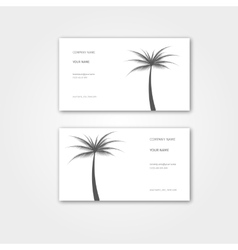 Summer Business card with palm for travel agency vector image