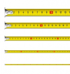 Tape measure in centimeters vector image