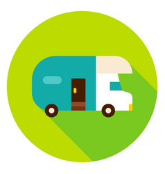 trailer circle icon vector image