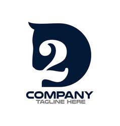 Two horses logo vector