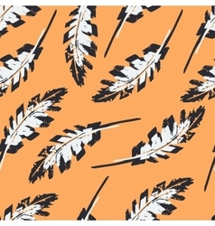 Vintage Feather Seamless Pattern vector image