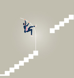 Way forward and overcoming obstacles concept vector