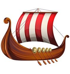 A vikings ship vector image vector image