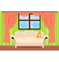 Apartment interior concept in flat design vector
