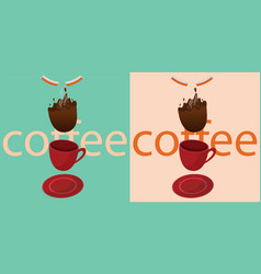 coffee is falling vector image vector image