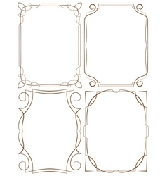 delicate frames Set on a white background vector image vector image