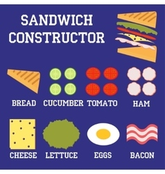 sandwich constructor vector image