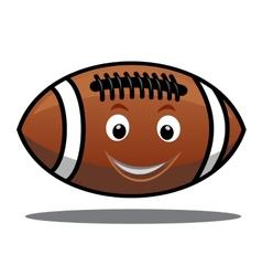 Bouncing american football ball vector image vector image