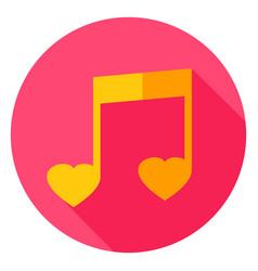music circle icon vector image vector image