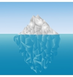 Polygonal iceberg in the sea Low poly design vector image vector image