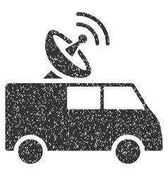 Radio control car grainy texture icon vector