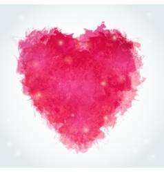 Abstract watercolor heart Ink vector image vector image