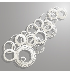 background paper rings vector image vector image
