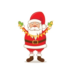 cartoon cute Santa Claus vector image