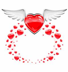 love heart symbol vector image vector image