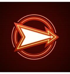 Retro Showtime Sign Design Arrow Cinema Signage vector image vector image