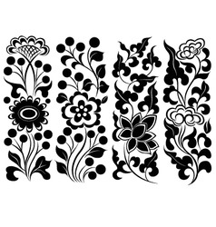 scroll flower vector image vector image